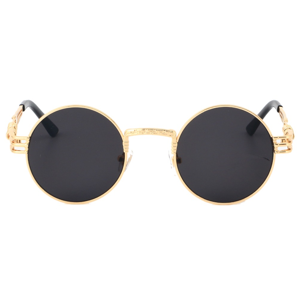 8cac62ec24 Round Steampunk Clear Lens Sun Glasses For Women Alloy Frame Retro Vintage  Sunglasses Mens Brand Designer Round Sunglasses Women-in Sunglasses from  Apparel ...