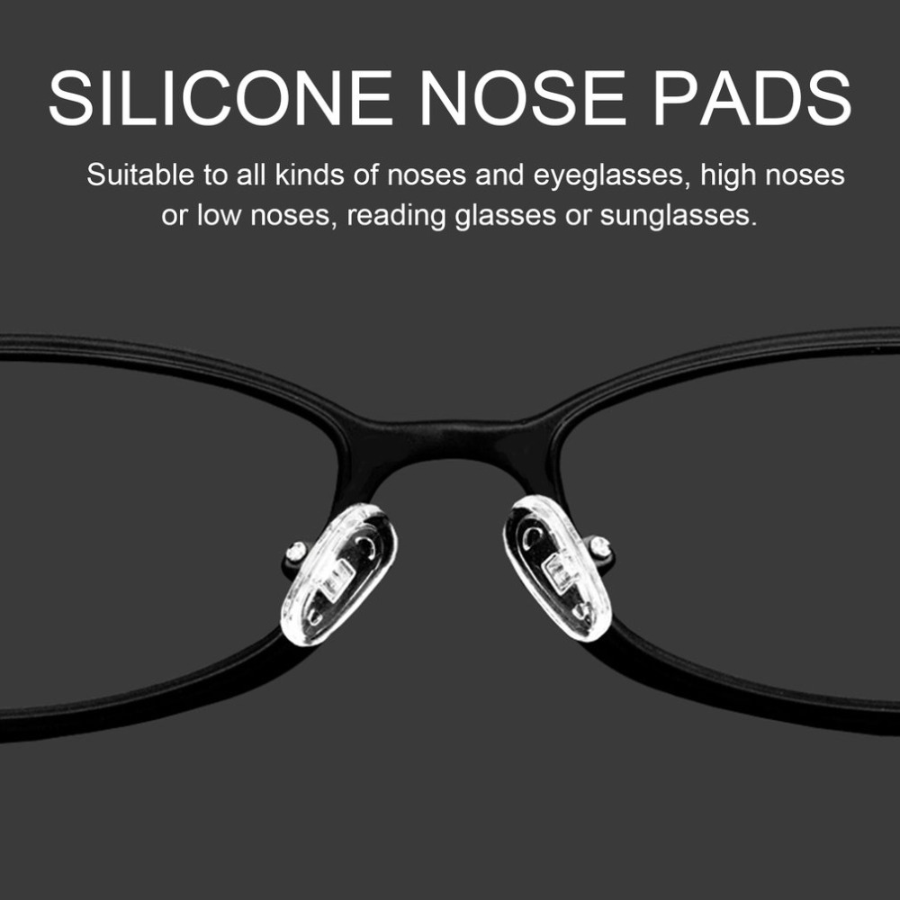 25 Pairs 13mm Silicone Nose Pads Screw On Nose Pads Push On Nose Pads Repair Tool For Eyeglass Sunglasses Eyewear Accessories