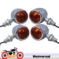 Universal Chrome Motorcycle Turn Signals Motorbike Blinkers Indicator Lights for Honda CBR 1000 1100XX 125R 250R 600 RR F4i