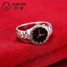Anillos de dedo chapados en plata para mujer, joyería nupcial, anel femenino, regalo de moda, níquel, libre, antialérgico, Super oferta