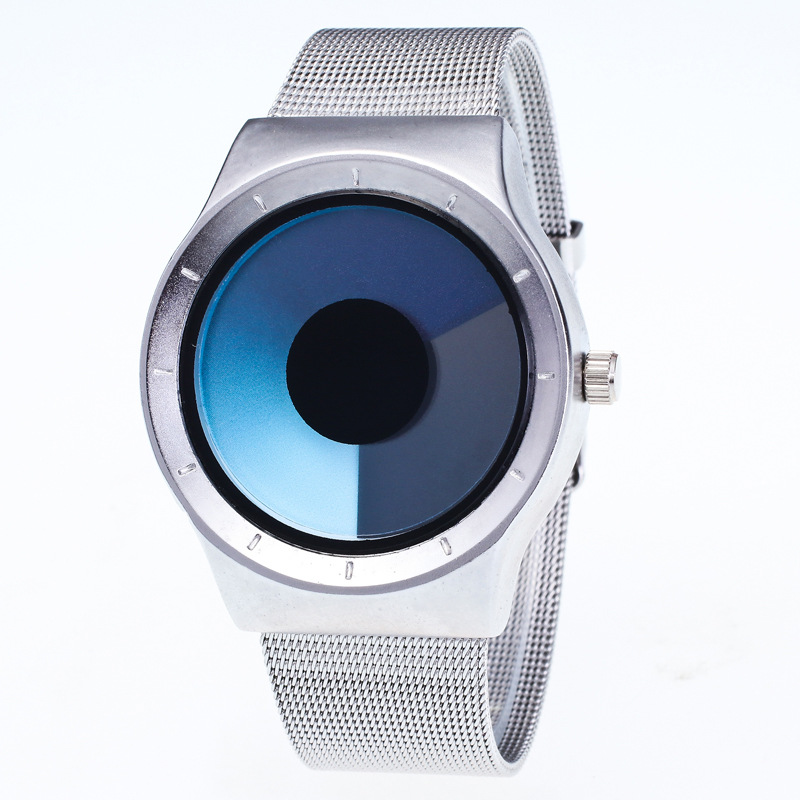 MINHIN Personality No Pointer Watch Concept Swirl  Design Luminous Student Fashion Watch Women Men Creative Wristwatches(China)