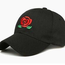3b3da06c72c 2018 New Hot Fashion Roses Men Women Baseball Caps Spring Summer Sun Hats  for Women Solid