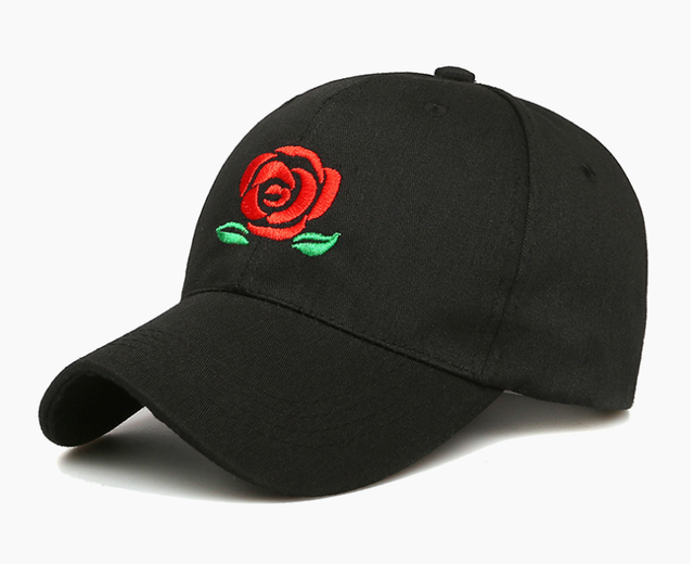 46781f6c70feb 2018 New Hot Fashion Roses Men Women Baseball Caps Spring Summer Sun Hats  for Women Solid Snapback Cap Wholesale Dad Hat Gift