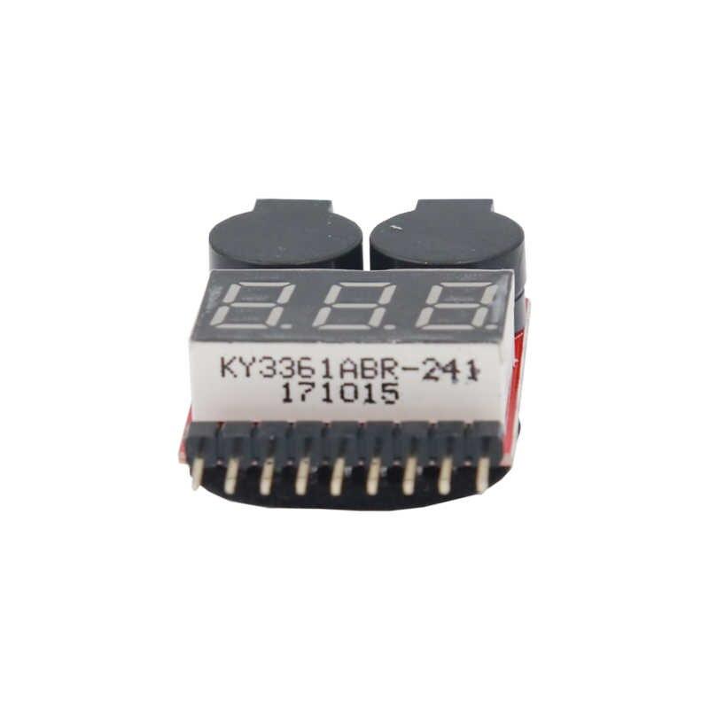 Di alta Qualità 2 in1 Led A Bassa Tensione 0.01V RC Lipo Battery Meter Tester Buzzer di Allarme LB 1 S- 8S voltmetro 40% di Sconto