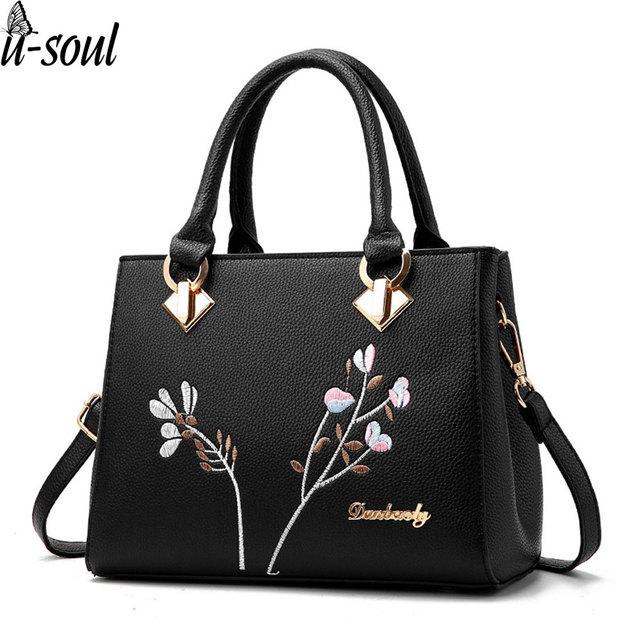 Женские сумки цветок Наплечные сумки женские искусственная кожа сумка  женские сумки брендов сумки мешок основной SJ004 ee4e490845cd5