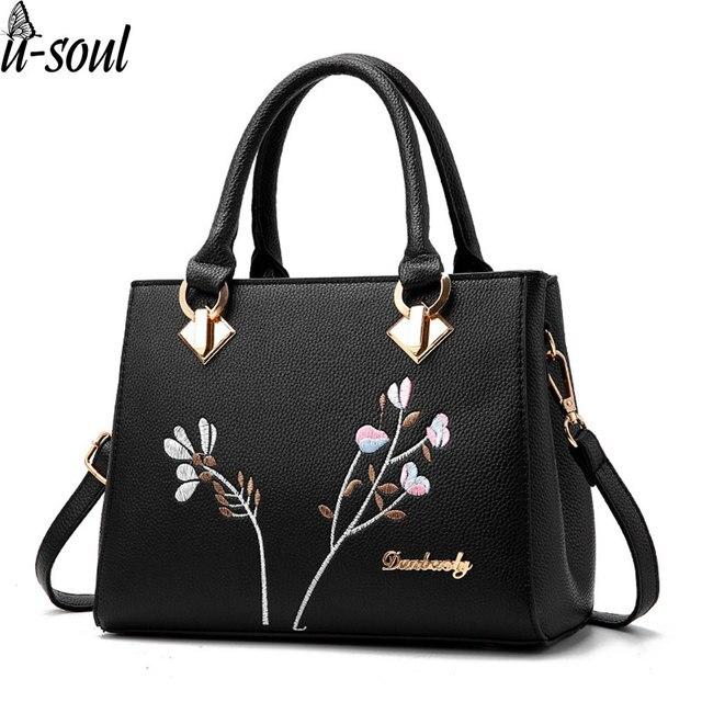 Женские сумки цветок Наплечные сумки женские искусственная кожа сумка  женские сумки брендов сумки мешок основной SJ004 5605ae8fae552