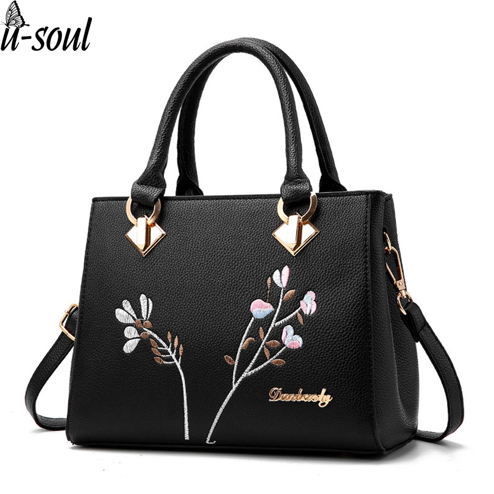 women handbag flower women shoulder bags women pu leather ...