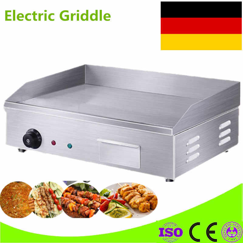 High Quality 220V Counter Top Electric Griddle Flat Plate Grill Stainless Steel Electric Griddle For Restaurant Kitchen Griddle