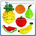 Mini Qute 6 estilos 3d Fruta manzana sandía loz diamond building blocks ladrillos bloque de cubo de plástico figuras de juguete educativo del juego