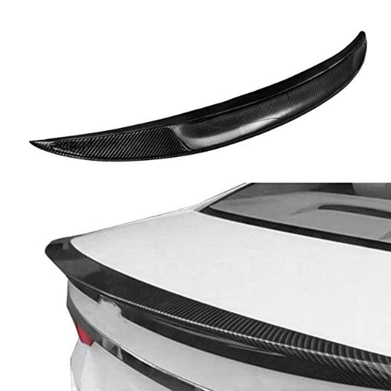 Carbon Fiber Rear Trunk Lip Spoiler Fit For 2007 2013 BMW E92 Coupe 328i 335i M3 Rear Wing Spoiler High Kick Replacement Wing