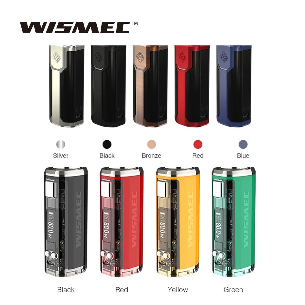 100% Originale 80 W Wismec Sinuosa P80 TC Mod VS WISMEC SINUOSA V80 TC Box MOD Fit Amor NSE Atomizzatore ECig Vape Vaporizzatore Mini Mod