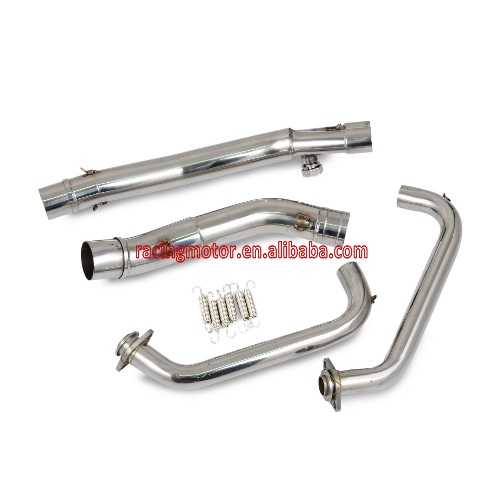 Motorcycle Exhaust Header Down Pipe & Exhaust Mid Pipe For