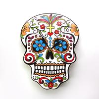 Mexican Dia De Los Muertos Day of the Dead Wall   Clock   Floral Skull Modern Wall   Clock   Candy Sugar Skull Halloween Wall Decor