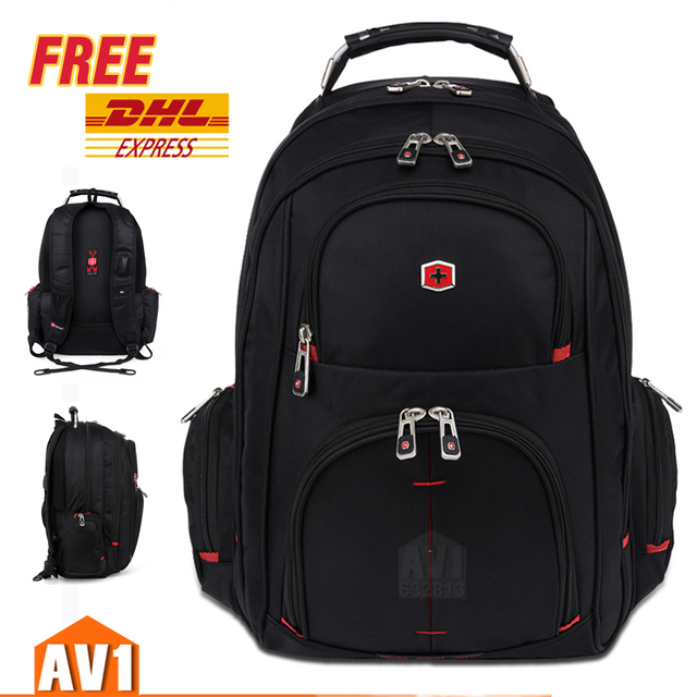 Free Dhl Shipping Business Sport Travel Top Gear Swiss Bag Laptop Outdoor Quality Rucksack School