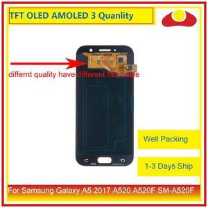 Image 4 - 10 יח\חבילה מקורי לסמסונג גלקסי A5 2017 A520 A520F LCD תצוגה עם מסך מגע Digitizer פנל צג הרכבה מלאה