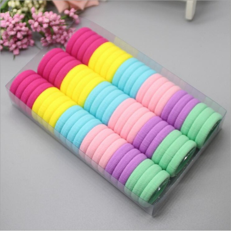 Rubber-Rope Scrunchy Headwear Hair-Accessories Elastic-Hair-Bands Diameter-3cm Girls