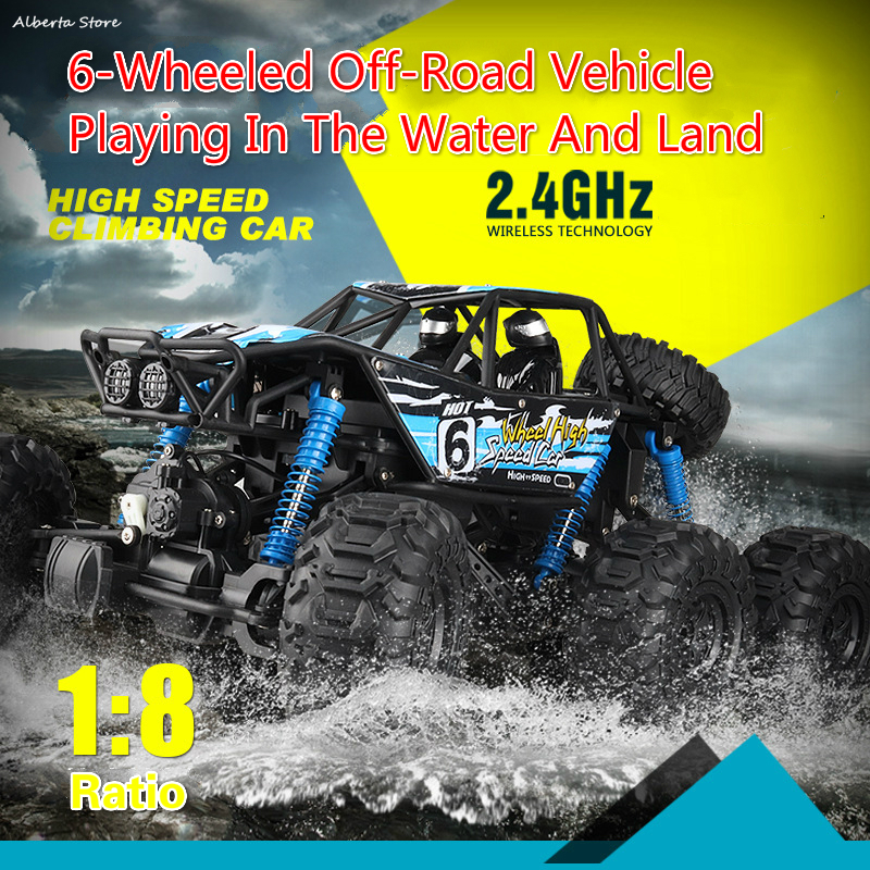 Super Large Six Wheel Drive Water & Land High-speed Climbing Car Remote Control Car Off-road Vehicle Charging Dynamic Toy RacingSuper Large Six Wheel Drive Water & Land High-speed Climbing Car Remote Control Car Off-road Vehicle Charging Dynamic Toy Racing