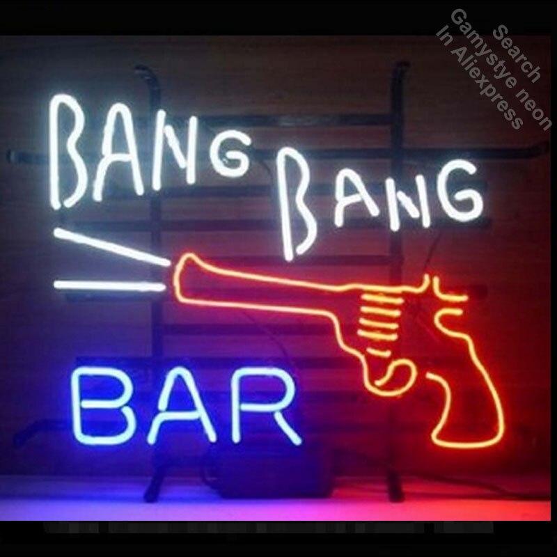 НОВЫЙ Bang бар Неоновый знак неоновый светодиодные лампы признаки реального Стекло трубка ручной работы Отдых комнаты гараж декоративные бы