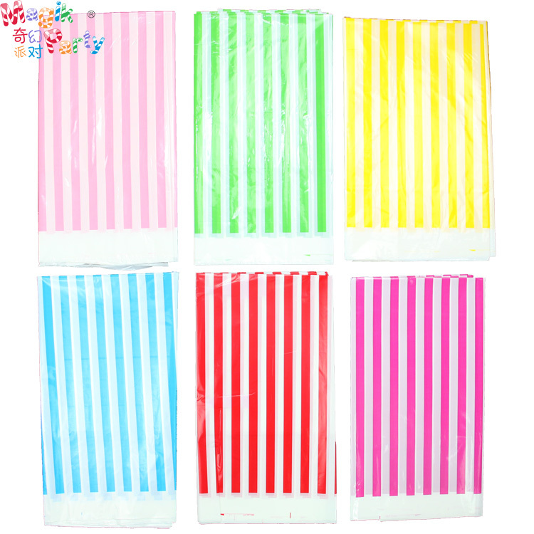 Aliexpresscom Buy Table Decoration Stripe Table Linen Kid Birthday Party  Disposable Tablecloth Supplies Plastic Table Covers For Party Accessories  From
