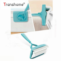 New Baseboard Buddy Scalable Microfiber Cleaning Stick Cleaning Brush Cleaning Mop Blue Plastic Handle Aluminum Cleaning