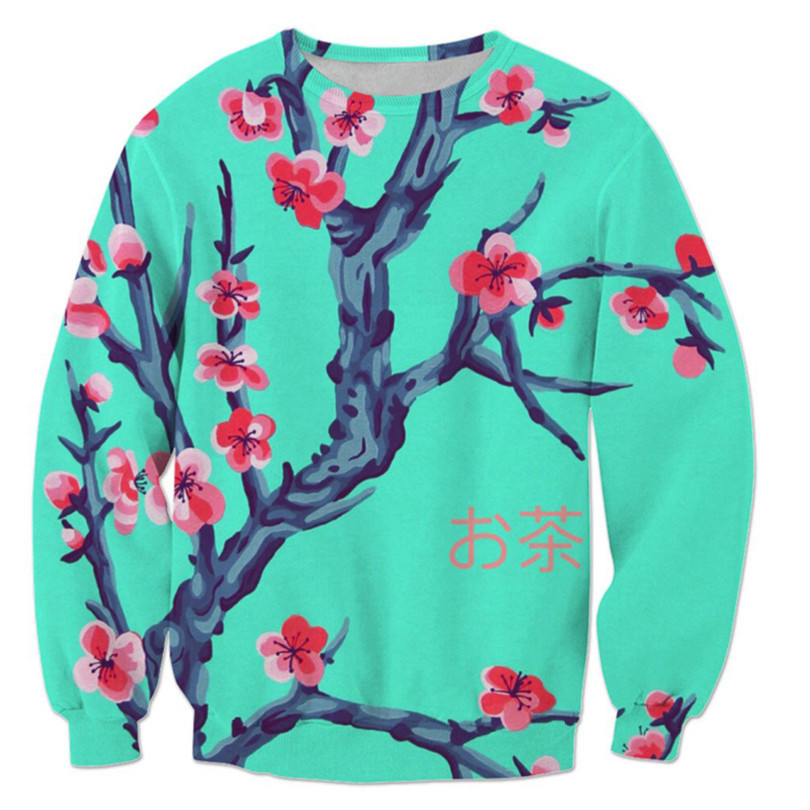 Christmas Japanese Hoodie Men Cherry Print Pullover Male Sweatshirt Women Hip Hop Harajuku Mens Streetwear Sweat Homme Vetements