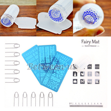 Hot Sale PRO Nail Art Soft Silicone Mat Work Space Protector Cover Nail Art Clear Stamper Scraper Stamping Plates Nail Kit