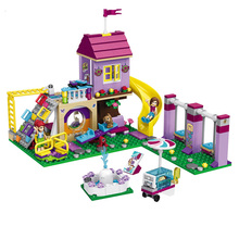 SLPF City Playground Girl Model Kit Plastic Assemble Educational Building Blocks Bricks Toys For Children Compatible Legoing K07