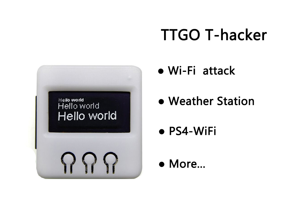US $19 0 |TTGO T Hacker DIY BOX ESP8266 Wifi OLED display attack Weather  station Temperature Humidity sensor For PS4 WiFi-in Circuits from Consumer