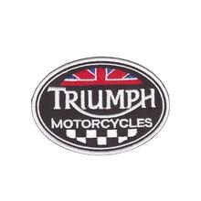 כולם אוהב זה חדש סגנון טריומף אופנועים לוגו רקום DIY אבזר אופנוע אופנוען מעיל אפוד תיקוני