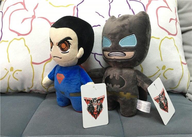 1PCS Batman v Superman Dawn of Justice 20CM Superman Batman Plush Doll Toy Figure