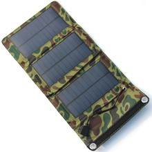 BUHESHUI Portable Solar Charger For Mobile Phone+ Solar Panel+Foldable USB Battery Charger Wallet/Bag 5pcs/lot Free Shipping