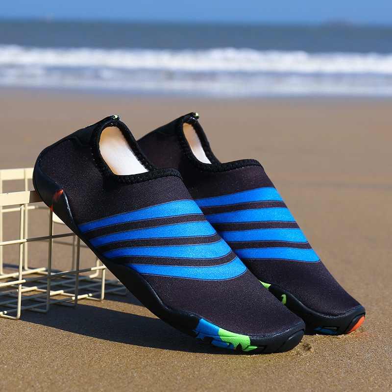 2019 della Donna degli uomini Della Spiaggia di Estate Scarpe Trampolieri Outdoor genitore-bambino di fitness scarpe di patch scarpe di acqua antiscivolo nuoto scarpe formato 28-47