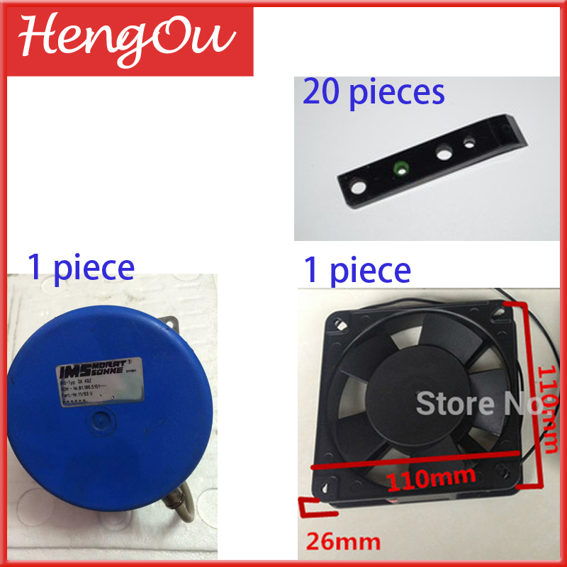 20 pcs urethane gripper C3.011.727 -1 pcs axial fan reference C5.115.2421 -1 piece engine registration reference 81.186.5151