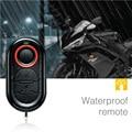 Remoto de alarme de segurança anti-roubo da motocicleta steelmate sistema de partida sem chave moto scooter de alarme contra roubo de controle remoto à prova d' água