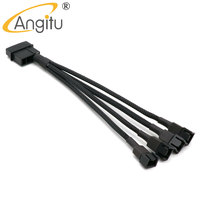 100pcs/lot 12V 4Pin Molex to Fan 3Pin 4Pin Power Adapter Cable