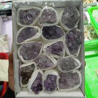 New Natural Amethyst Geode Crystal Quartz Amethyst Cluster Specimen