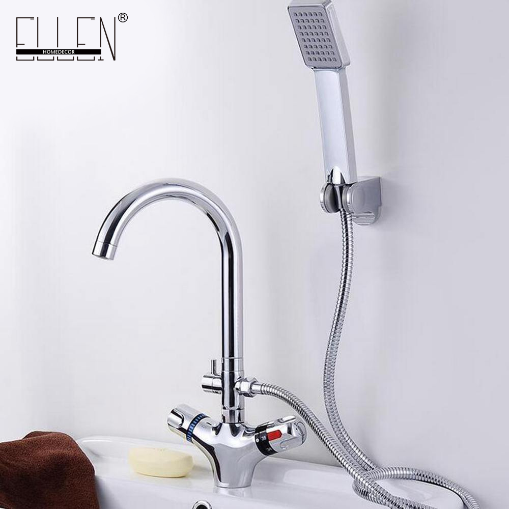 Bathroom Basin Faucet Thermostatic Crane Water Tap Mixer With Hand Shower Cold and Hot Water Mixer Bathtub Faucets 8056 101