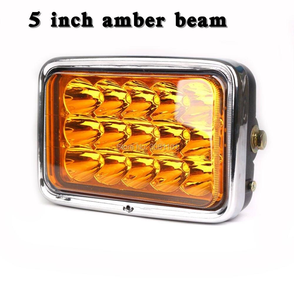 45w вело свет работы квадратных лампы высокого и низкого Луч Янтарный H4 автомобиля-стайлинг и черноты раковины светильника Кронштейн для мотоциклов