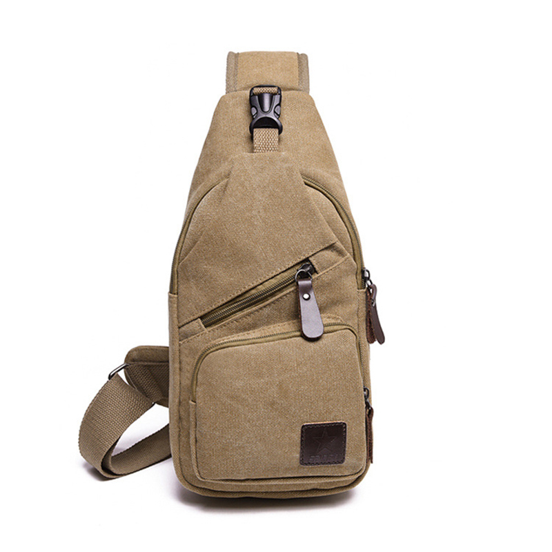 Anti Theft Chest Men's Small Canvas Crossbody Bags Male Shoulder Messenger Sling Phone