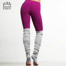 DANENJOY Women s Sports Yoga Pants Patchwork Running Tights Leggings Gym Athletic Skinny Fitness Sportswear Trousers