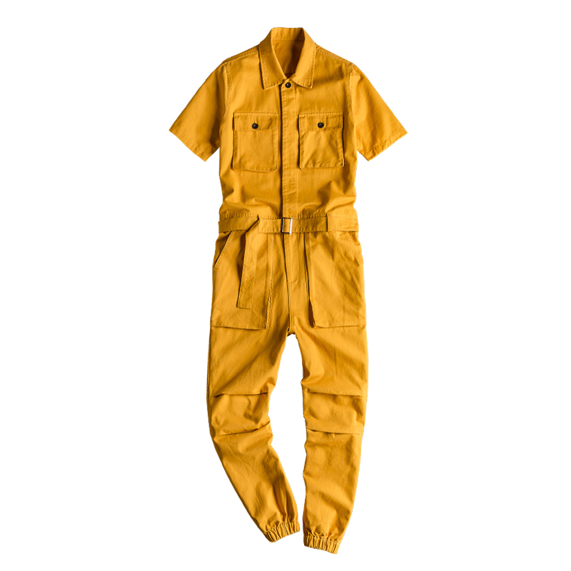 Image 5 - 2020 Summer new onesies jackets men hip hop overalls performance 