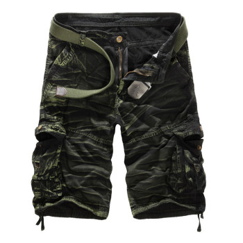 New 2016 Summer Military Army Cargo Shorts Large Size Mens Bermuda Joggers Multi Pockets Fashion Loose Camouflage Men