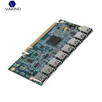 VAKIND 1 To 8 Graphics Card Extension Cord PCI E 16X To 8 Port USB3 0