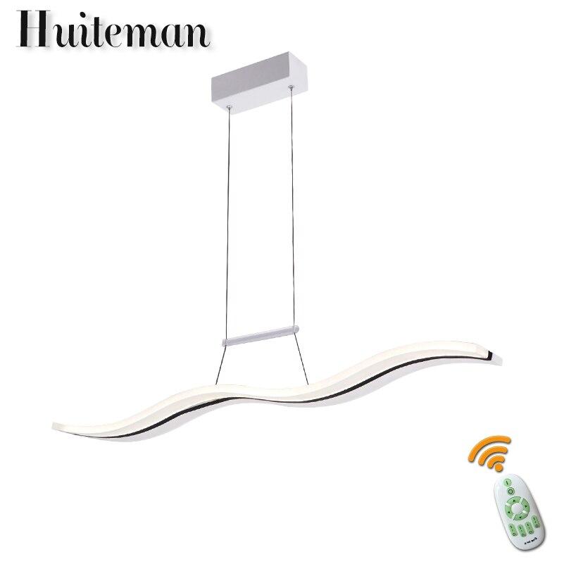 Здесь продается  Huiteman Hanging Modern Pendant Lights AC96-260V LED Remote Control Dimmable Avize Living Room Restaurant Kitchen Pendant Lamps  Свет и освещение