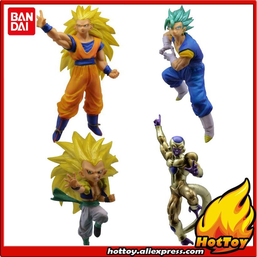 Original Bandai Battle VS 03 Gashapon PVC Toy Figure - Full Set of 4 Pieces Goku Vegetto Gotenks Freeza from Dragon Ball SUPER pvc figure all kinds of horses 15pcs set