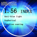 1.56 index optical lenses anti blue light protection anti uv anti radiation clear lense myopia astigmatism presbyopia  hyperopia