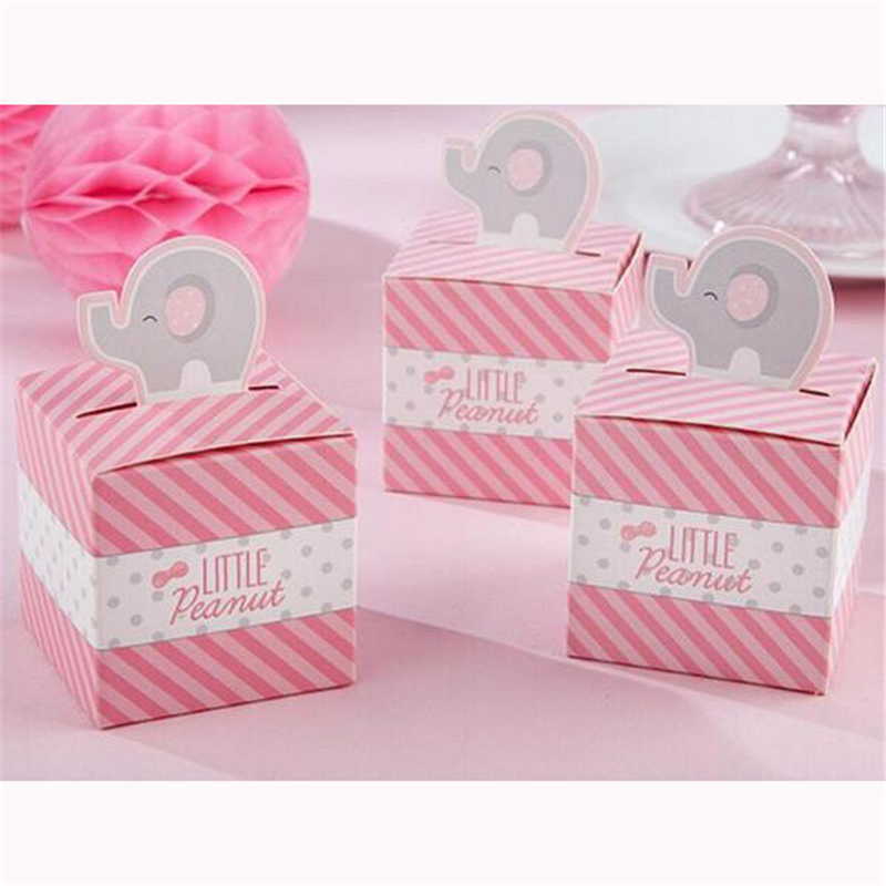 Free Shipping 50pcs Pink Elephant Wedding Favors And Gifts