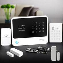 Factory supply Home  Security Alarm system Dual Network WiFi/GSM Burglar WIFI Digital Alarm System+Wireless RFID keypad