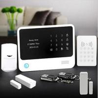 Factory supply Home Security Alarm system Dual Network WiFi/GSM Burglar WIFI Digital Alarm System+Wireless RFID keypad