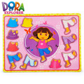 Educational toys wooden clothing DORA clad collocation girl locker box stereo jigsaw puzzle game creative gift 1pc